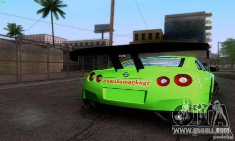 Nissan GTR R35 Tuneable for GTA San Andreas engine