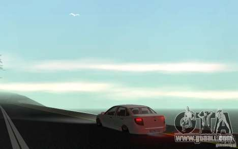 Lada Granta Stock for GTA San Andreas back left view