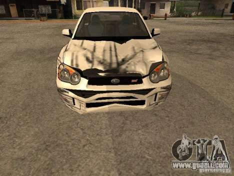 Subaru Impreza WRX STi for GTA San Andreas inner view