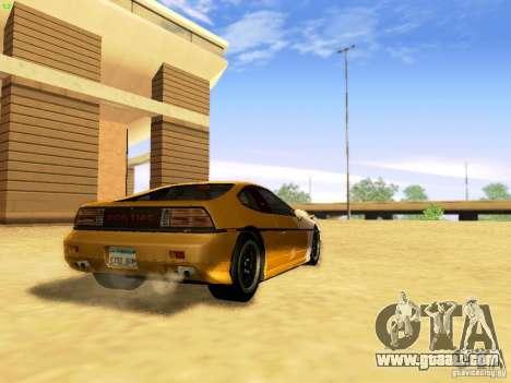 Pontiac Fiero V8 for GTA San Andreas left view