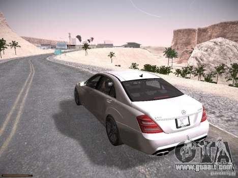 Mercedes Benz S65 AMG 2012 for GTA San Andreas back left view