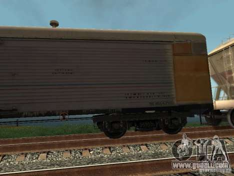 Refrežiratornyj wagon Dessau No. 9 for GTA San Andreas back left view
