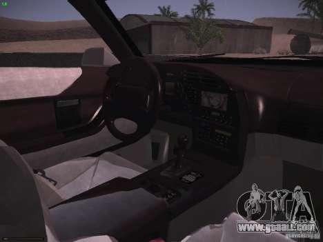 Chevrolet Corvette Grand Sport for GTA San Andreas upper view
