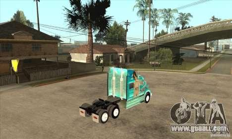 Peterbilt 387 skin 4 for GTA San Andreas back view