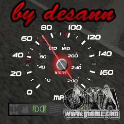 Multi-function Speedometer for GTA San Andreas