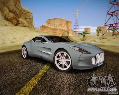 Aston Martin One-77 for GTA San Andreas back left view