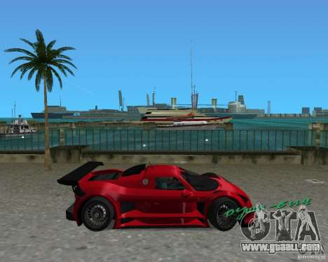 Gumpert Apollo Sport for GTA Vice City left view