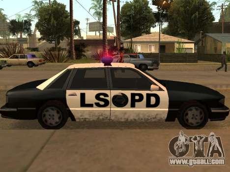 Police Los Santos for GTA San Andreas right view