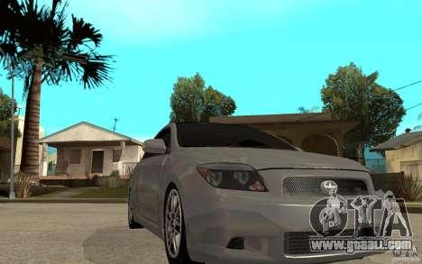 Scion tC - Stock for GTA San Andreas back view