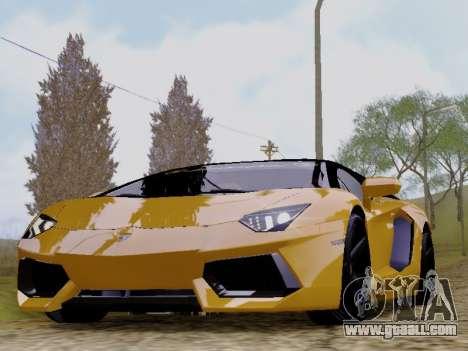 Lamborghini Aventador LP700-4 Vossen for GTA San Andreas back left view