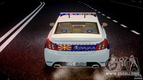 Peugeot 508 Macedonian Police [ELS] for GTA 4 interior