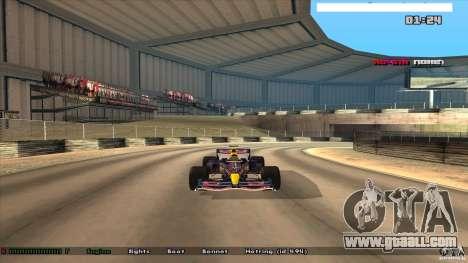 Ferrari F1 RedBull for GTA San Andreas back left view