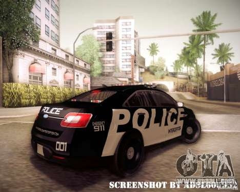 Ford Taurus Police Interceptor 2011 for GTA San Andreas right view
