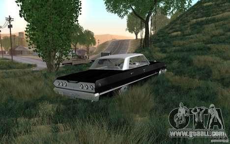 Chevrolet Impala 4 Door Hardtop 1963 for GTA San Andreas back view