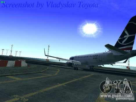 Embraer ERJ 190 LOT Polish Airlines for GTA San Andreas side view