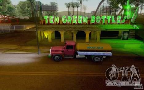 GAZ 3309 milk tanker for GTA San Andreas back left view