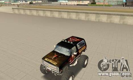 Chevrolet Blazer K5 Monster Skin 4 for GTA San Andreas left view
