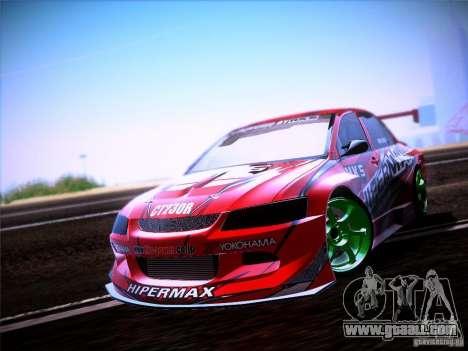 Mitsubishi Lancer Evolution 9 Hypermax for GTA San Andreas back left view