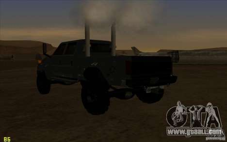 GMC Topkick Ironhide TF3 for GTA San Andreas inner view
