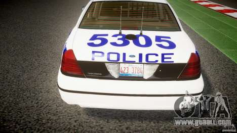Ford Crown Victoria NYPD [ELS] for GTA 4 interior