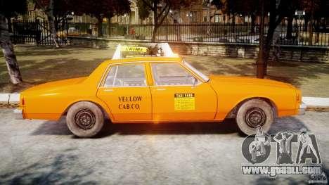 Chevrolet Impala Taxi v2.0 for GTA 4 side view