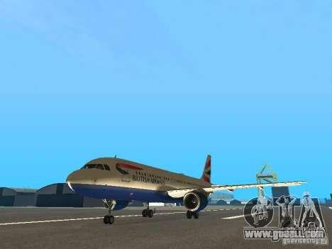 Airbus A320 British Airways for GTA San Andreas