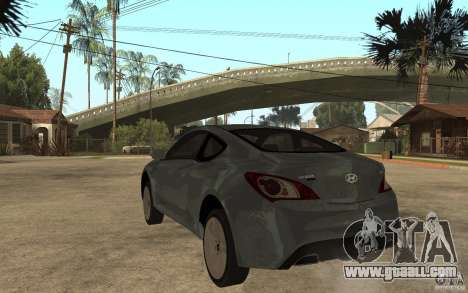 Hyundai Genesis Coupe 2010 for GTA San Andreas back left view