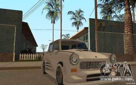 Trabant 601S Tuning for GTA San Andreas back view