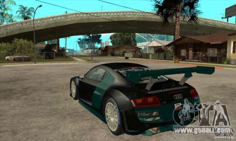 Audi R8 LMS for GTA San Andreas back left view