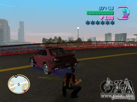 Subaru Impreza WRX STI for GTA Vice City left view