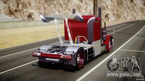 Peterbilt Sport Truck Custom for GTA 4 back left view