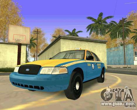 Ford Crown Victoria 2003 Taxi Cab for GTA San Andreas back view