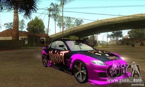 Mazda RX8 Slipknot Style for GTA San Andreas back view