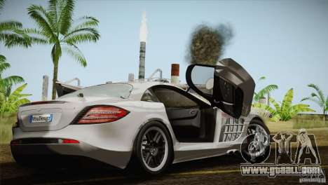 Mercedes SLR McLaren 722 Edition Final for GTA San Andreas inner view