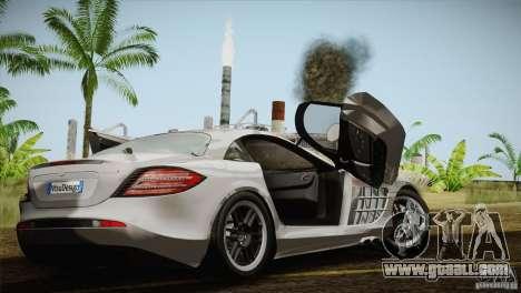 Mercedes SLR McLaren 722 Edition Final for GTA San Andreas inner view