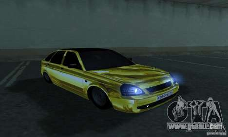 Lada Priora Gold for GTA San Andreas right view
