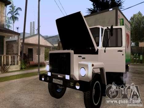 GAZ 3309 for GTA San Andreas inner view