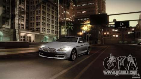 BMW 640i Coupe for GTA San Andreas back view
