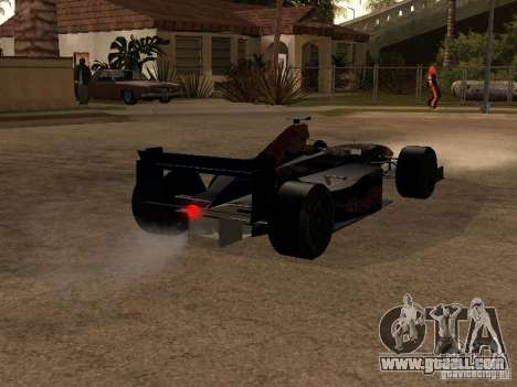 F1 Red Bull Sport for GTA San Andreas right view