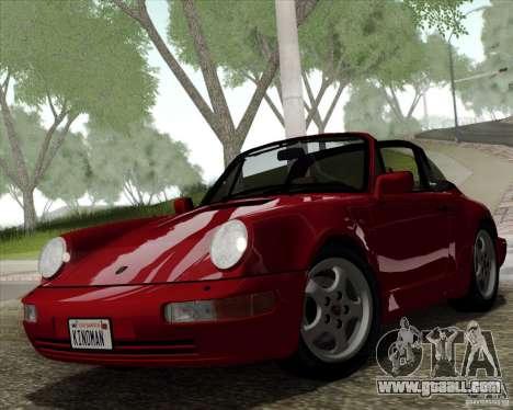 Porsche 911 Carrera 4 Targa (964) 1989 for GTA San Andreas inner view