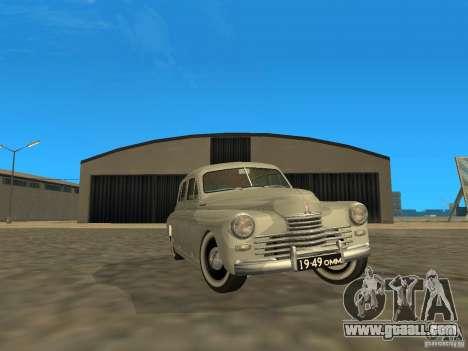 GAZ M20 Pobeda 1949 for GTA San Andreas side view