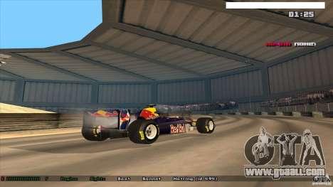 Ferrari F1 RedBull for GTA San Andreas left view