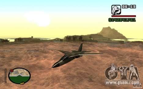 F-111 Aardvark for GTA San Andreas left view