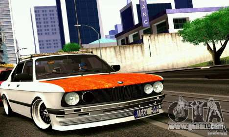 BMW E28 525e RatStyle No1 for GTA San Andreas back left view