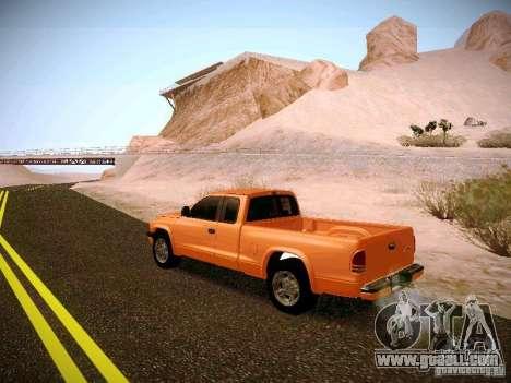 Dodge Ram 1500 Dacota for GTA San Andreas back left view