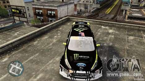 Ken Block Ford Fiesta 2011 for GTA 4 right view