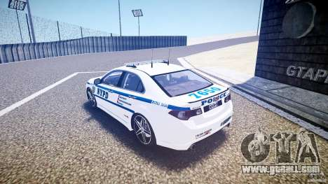 Honda Accord Type R NYPD (City Patrol 7605) ELS for GTA 4 back left view
