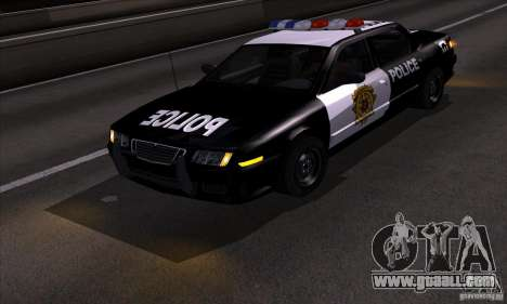 NFS Undercover Police Car for GTA San Andreas back view