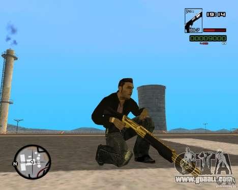 Shotgun Gold for GTA San Andreas