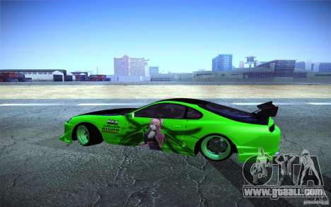 Toyota Supra Tuned for GTA San Andreas left view